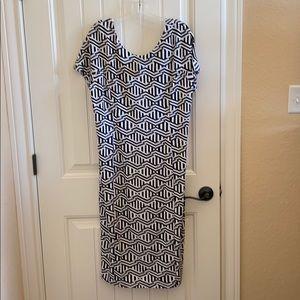 Cato black and white dress